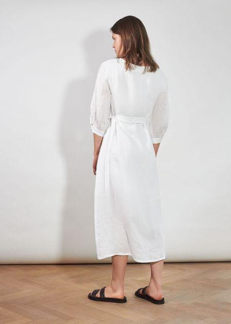 Jungle Folk Wanja Wrap Dress - White