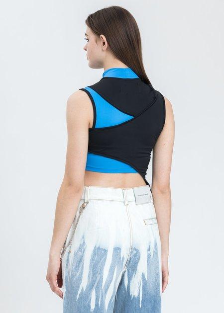 Feng Chen Wang Contrast Color Vest - Black/Blue