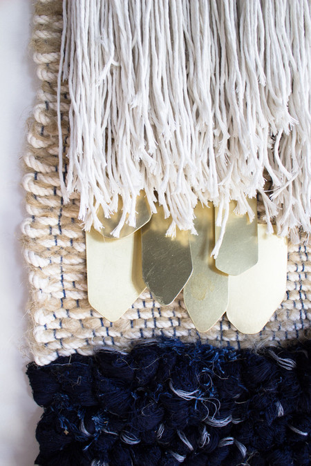 All Roads Navy & Ceramic Wall Hanging