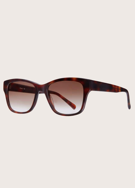 UNISEX YMC Clara Biodegradable Acetate Sunglasses - Matt Tortoise/Graduated Brown