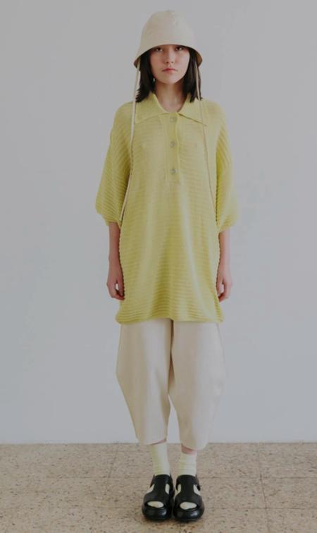Rus Jisho Polo sweater - Citron