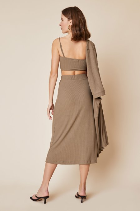 Whimsy + Row Finn Skirt - Sage Rib