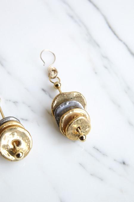 Sonia Boyajian Pierced Disc Earrings
