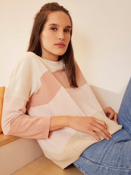 Des Petits Hauts Beya Wave Sweater - pink