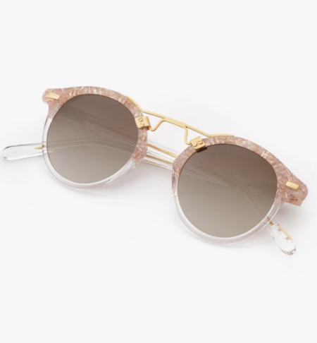 Krewe ST. LOUIS MIRRORED FRAMES sunglasses - CAMELLIA TO CRYSTAL 24K