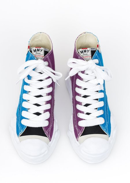 Mihara Yasuhiro Original Sole Toe Cap Canvas Hicut Sneaker - Blue/Purple