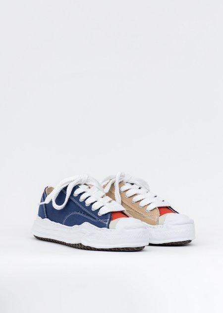 Mihara Yasuhiro Original Sole Toe Cap Canvas Lowcut Sneaker - Navy/Beige