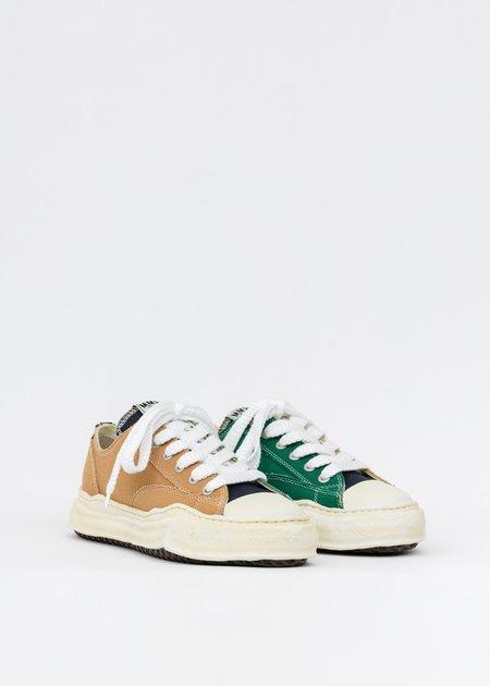 Mihara Yasuhiro Original Sole Overdyed Lowcut Sneaker - Yellow/Green
