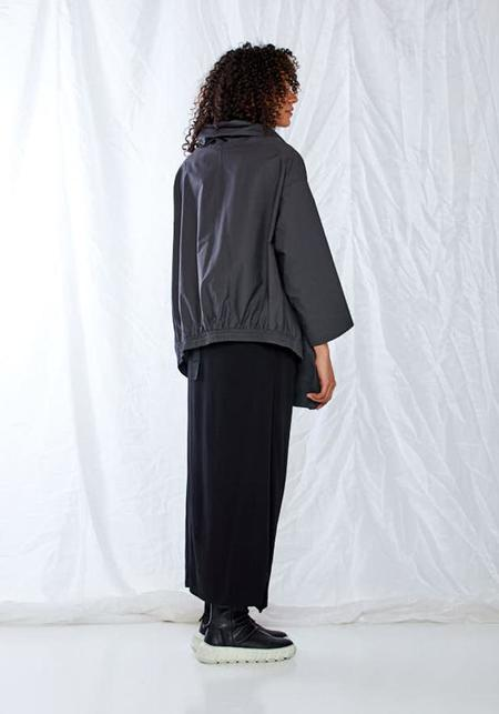 Nuovo Borgo Tie Front Asymmetric Bubble Jacket - gray
