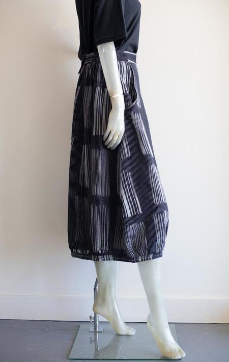 Yaza Print Tulip Shape Cotton Skirt - blue