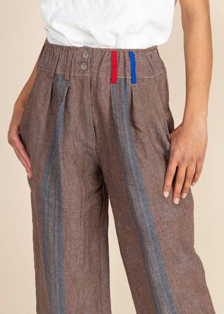 Echappees Belles Linen Kepi Trouser - Bleu