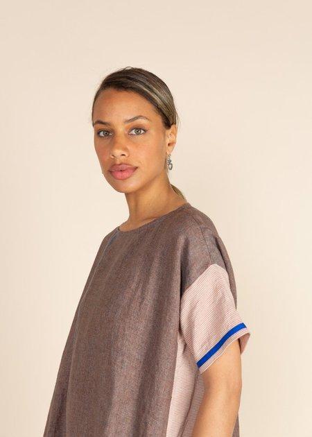 Echappees Belles Linen Kristin Dress - Bleu