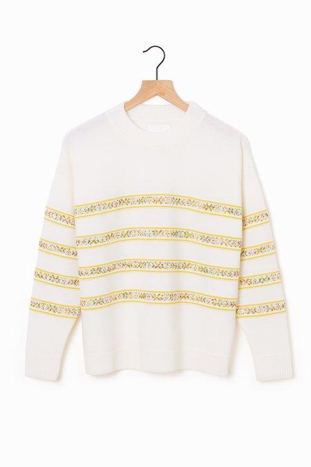 Molli Othello Braided Stripe Sweater - Milk/Mimosa