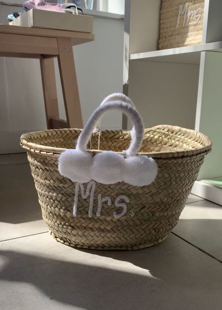 Marrakech shop design MRS pom pom bag - natural/white