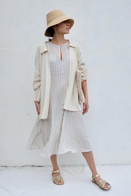 Pietsie Springs Dress - Cream/Blue Bold Stripe