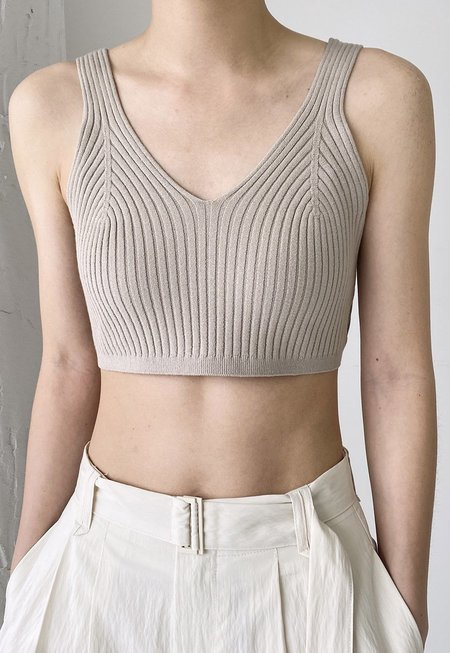 Another Rib Knit Bralette - Taupe