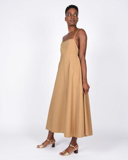 Toit Volant Jasmine Halter Style Dress - caramel
