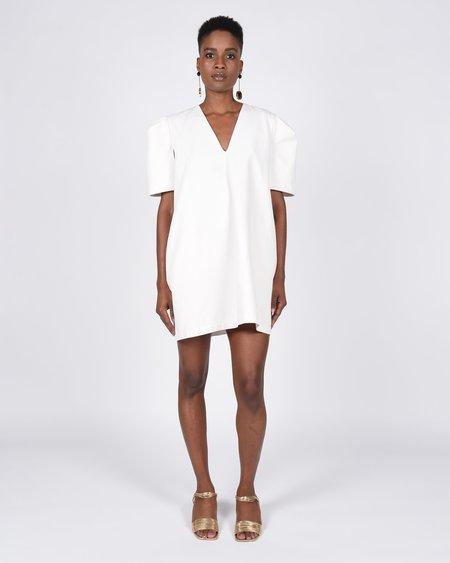 Toit Volant Open Sleeve Short Dress - Meringue