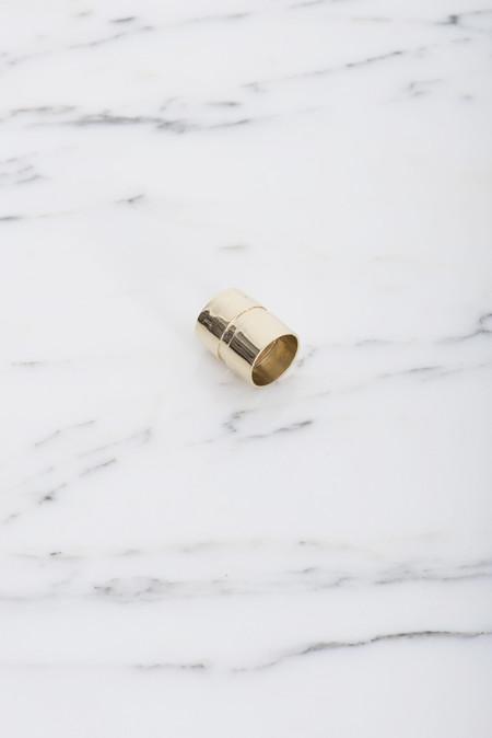Samma Valve Ring #2 in Brass