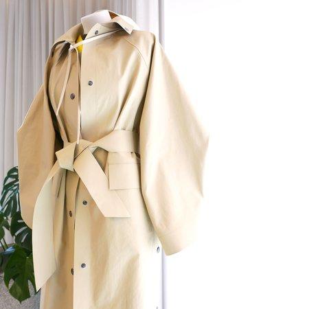 KASSL EDITIONS Kimono Coat - Below Oil Sand Beige