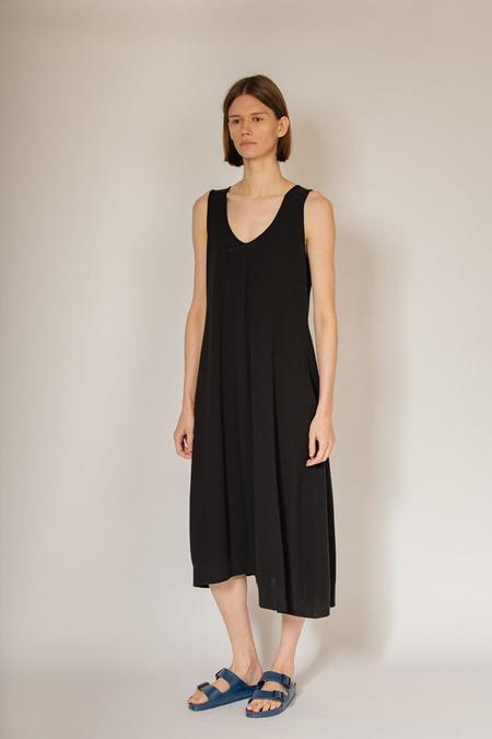 Oyuna Knitted Sleeveless Dress - Black
