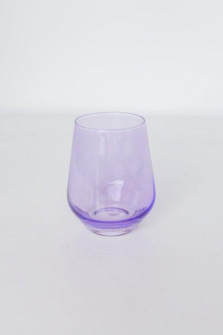 Estelle Colored Glass Stemless Wine Glasses - Lavender