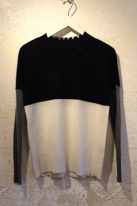 RtA Cashmere 'Justine' Color Block Sweater