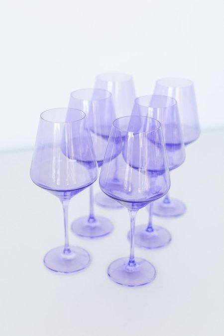 Estelle Colored Glass Wine Glasses - Lavender