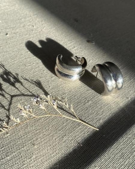 Odette New York Double Bulle Hoops - Sterling Silver