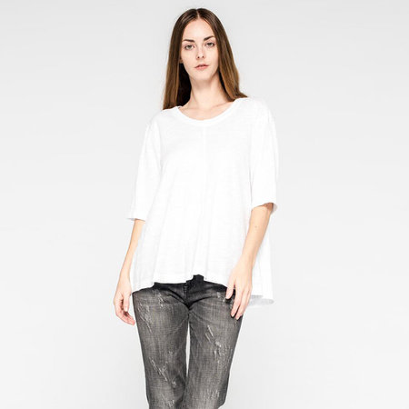 Wilt elbow sleeve trapeze tee - white