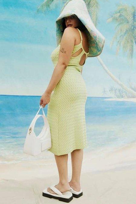 House of Sunny POINT BREAK Knit Midi Dress - GREEN