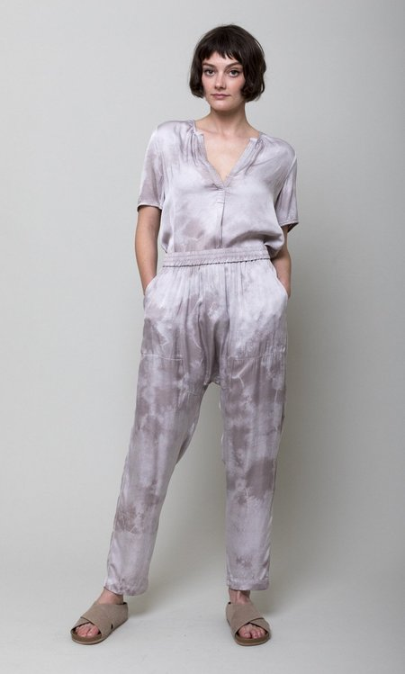 Raquel Allegra Sunday Pant - Silver Cloudwash Tie Dye