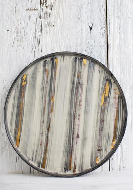 Rust Designs No. 3 Hand Painted Ceramic Platter