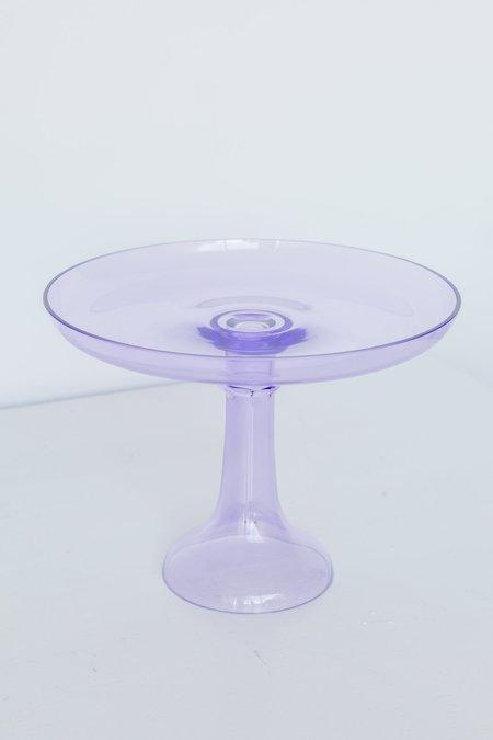 Estelle Colored Glass Cake Stand - Lavender