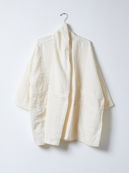 Unisex Atelier Delphine Haori Gauze Coat - Kinari