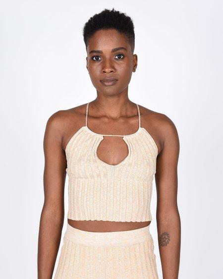 Paloma Wool Block Knit Top - Beige