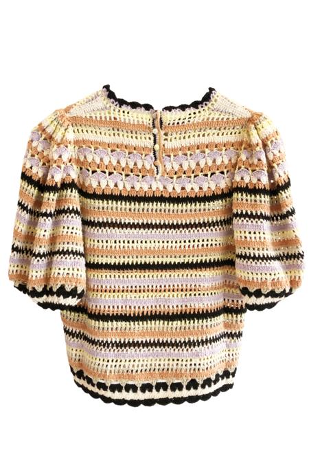 Ulla Johnson Crochet Irene Pullover - Honey