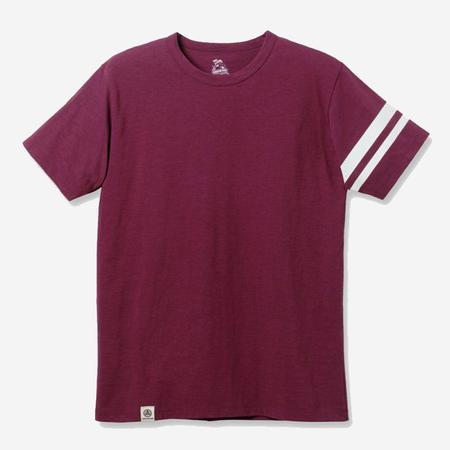 Momotaro Jeans Going to Battle Sleeve T-Shirt - Burgundy