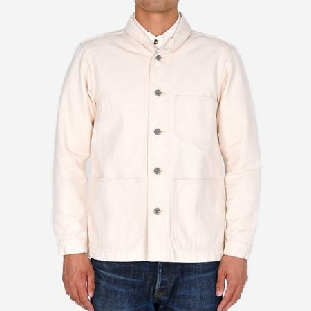 Momotaro Jeans Water Resistant Canvas Coverall Jacket - Natural
