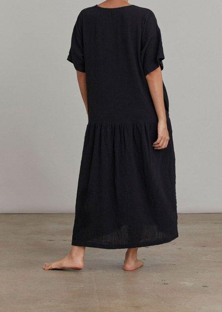 Black Crane Easy Dress - Black