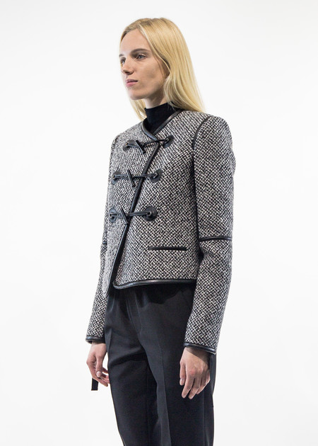 Carven Asymmetrical Tweed Jacket