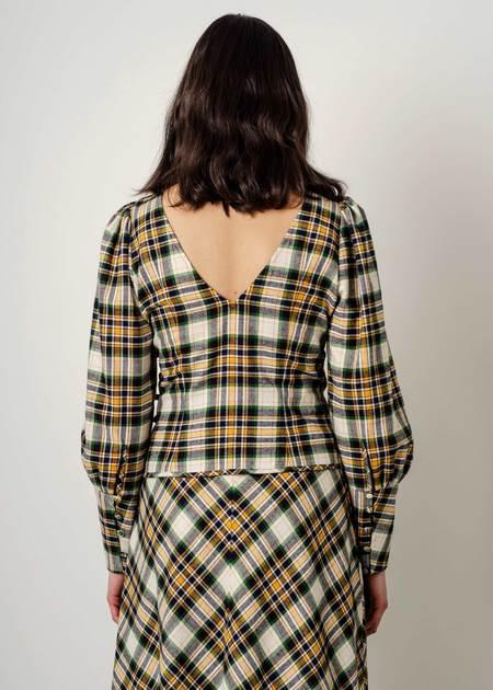 Penny Sage Elisa Shirt - Plaid Flannel