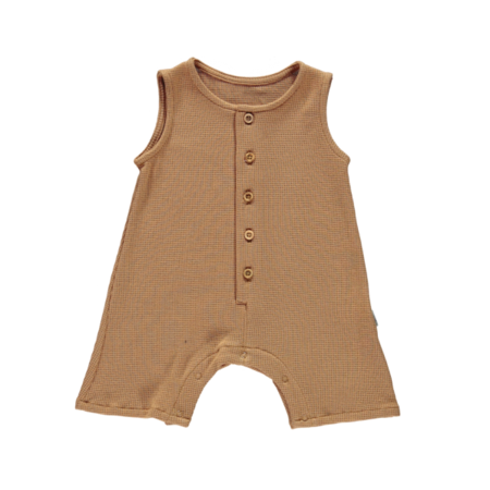 KIDS Poudre Organic Poivre Baby Romper - Tan
