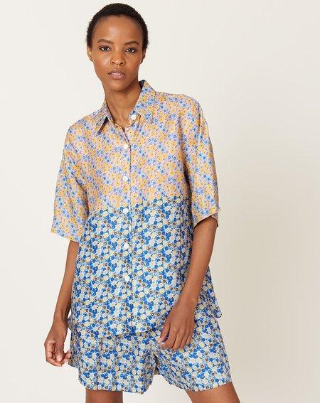 No.6 Leigh Shirt - Tangerine Sky Dip Dye