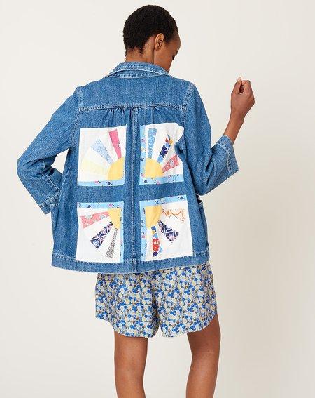 Carleen Patchwork Loren Pocket Jacket - Sunrise