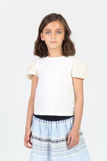 Kids Little Olin Puff Sleeve Top - Ecru