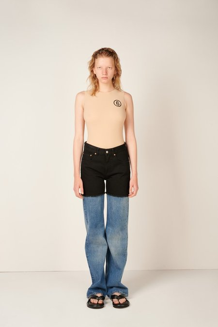 MM6 Maison Margiela Two-tone Straight Leg Jeans - Black/Blue
