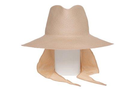 Clyde Caro Neck Shade Hat - Petal Panama Straw