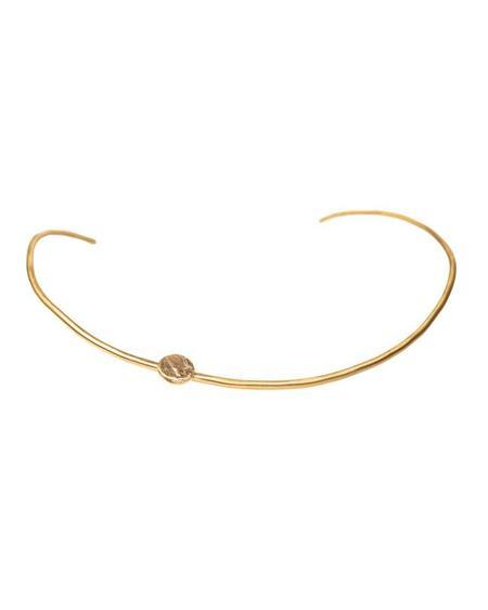 salt grass Ephemeris collar - brass