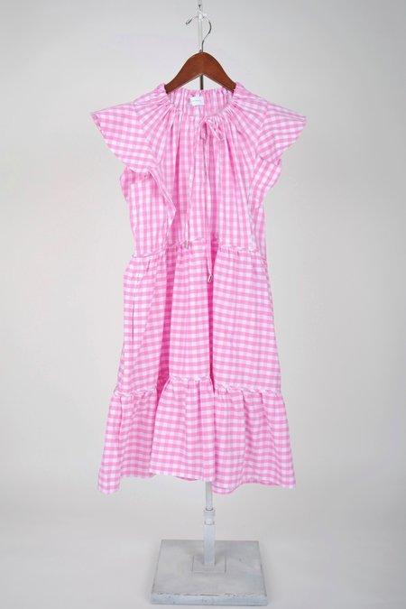 Ephemera Trapeze Swing Mini dress - Geranium Gingham